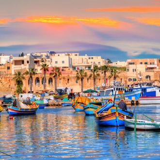 Marsaxlokk dorpshaven van Malta