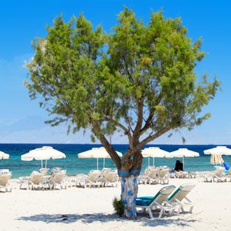 Wit zandstrand op Griekse eiland Kos