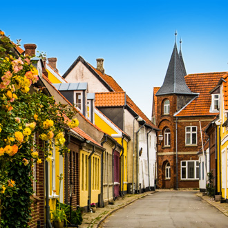 Middeleeuws dorpje Ribe in Denemarken