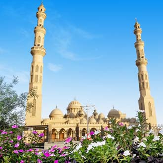 Mooie moskee in de stad Hurghada