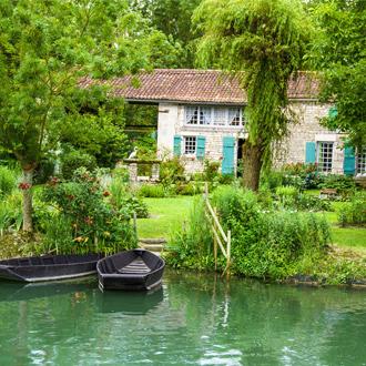 Natuurgebied Marais Poitevin in Vendée, Frankrijk