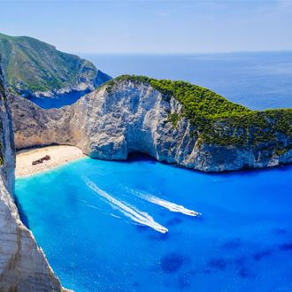 Navagio Bay met scheepswrak op Zakynthos, Griekenland