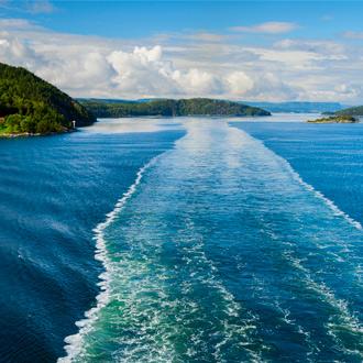 Landschap van Oslofjord in Noorwegen