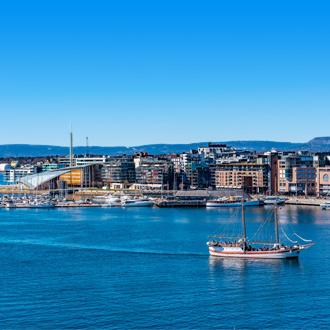 Stadsuitzicht van Oslo in Noorwegen