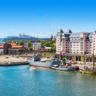 Een haven in Oslo, Noorwegen