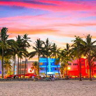 Art deco district op de Ocean Drive in South Beach Miami
