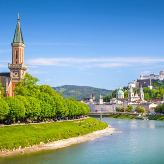 Foto van de skyline van de stad Salzburg