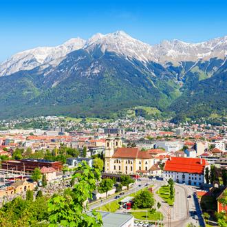 Innsbruck stad vlakbij Igls, Oostenrijk
