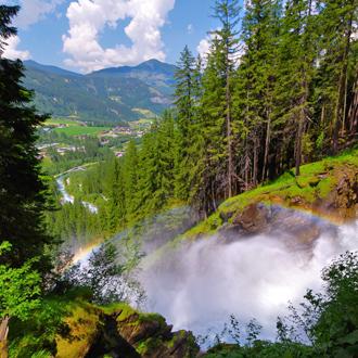 Foto van de Krimml waterval in Salzburgerland