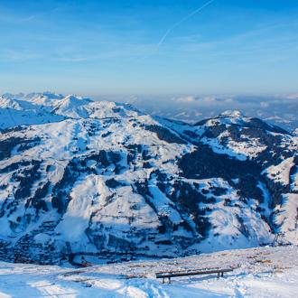 Winterlandschap in Hinterglemm Oostenrijk