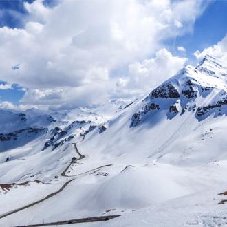 Foto van een berg met sneeuw in Salzburgerland