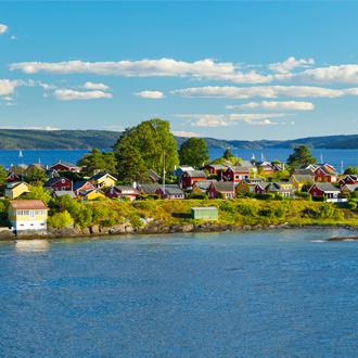 Oslofjord in de Baltische Zee in Noorwegen