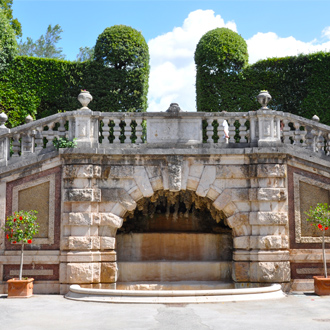 Oud park in kuuroord van Montecatini Terme