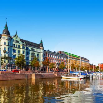 Oude binnenstad van Helsinki in Finland