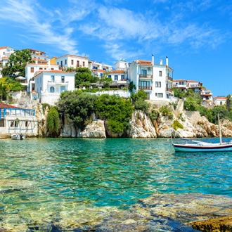 Oude haven van Skiathos in Griekenland