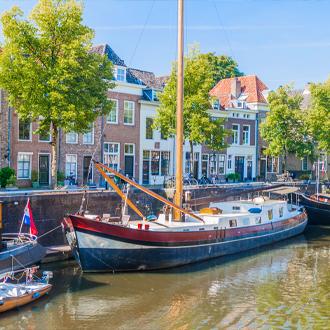 Oude haven in Den Bosch Nederland