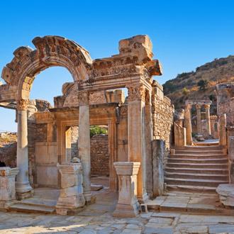 Oude ruines in Ephesus, Turkije