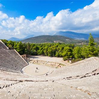 Oude theater van Epidaurus in Peloponnesos