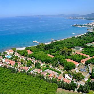 Uitzicht op hotel Dogan Paradise in Ozdere, Turkije