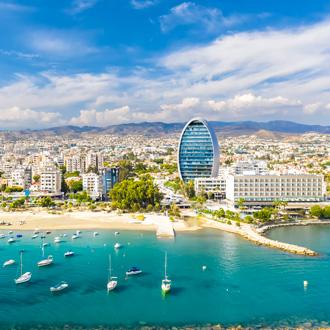 Panoramisch uitizicht op Limasol, Cyprus