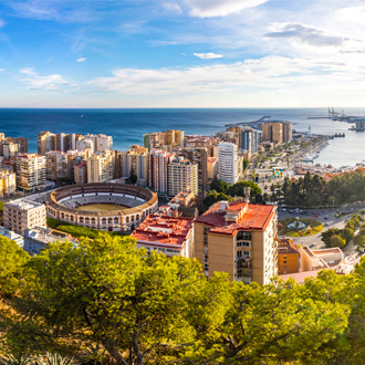 Panoramisch uitzicht op Malaga, Andalusie, Spanje