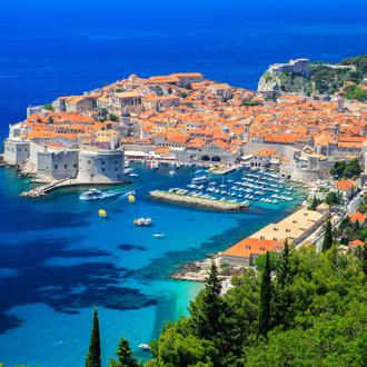 Panoramisch uitzicht op de stad Dubrovnik, Kroatie