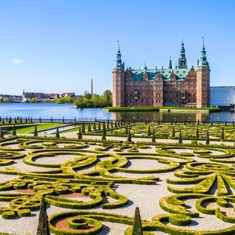 Park en Palace Frederiksborg Hillerod, Denemarken