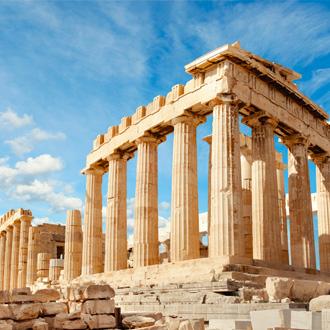 Parthenon tempel in Athene, Griekenland