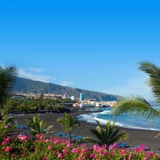 Playa Jardin zwart zandstrand Puerto de la Cruz Tenerife