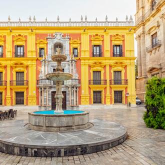 Plaza del Obispo in Malaga, Spanje