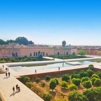 Plein voor Koutoubia Moskee Marrakech
