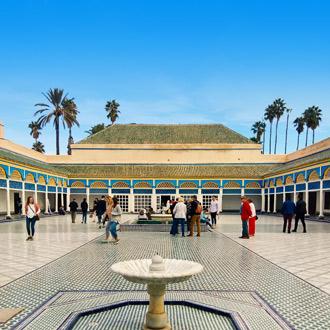 Palais Bahia Paleis in Marrakech met fontein