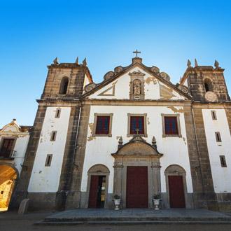 Een heiligdomcomplex in de vissersstad Sesimbra, Portugal