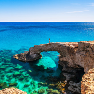 Prachtige rots vlakbij Ayia Napa, Cavo Greco en Protarnas, Cyprus