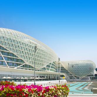 Racebaan van YAS Marina in Abu Dhabi