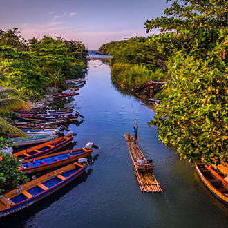 Raften op de White River in St ann, Jamaica