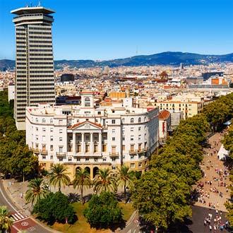 Stukje van de Ramblas in Barcelona