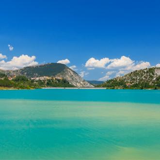 Reservoir, natuurgebied in San Vincenzo, Toscane