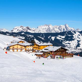 Restaurant en cafe op de skibergen in Mayrhofen Tirol Oostenrijk