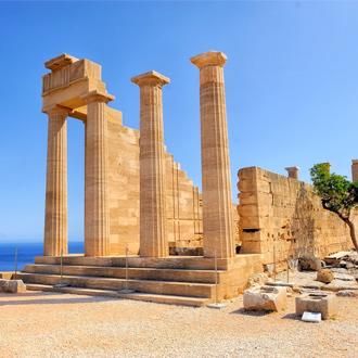 Ruïnes van de oude tempel van Lindos