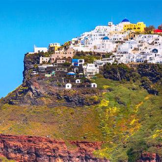 Santorini-Panorama-van-de-huisjes-op-Imerovigli