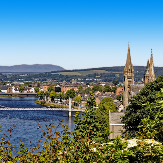De stad Inverness in Schotland