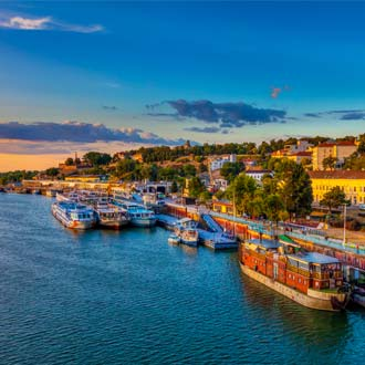 Servie Belgrado zonsondergang