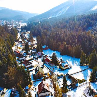 Ski resort in Harrachov, Tsjechie