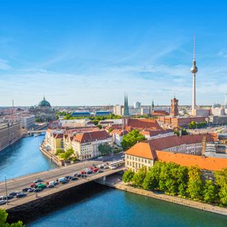 Rivier en gebouwen in Berlijn