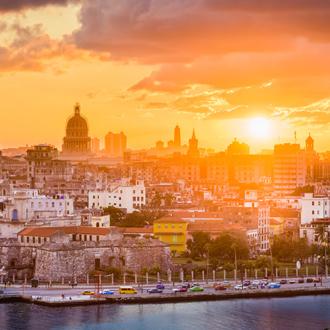 Skyline van Havana in Cuba downtown