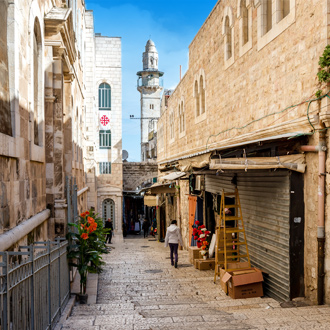 Smalle straat in Jeruzalem