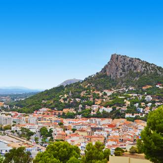 Uitzicht op L Estartit in Spanje