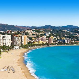 Uitzicht van de kust bij Malaga