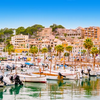 Haven Puerto de Soller op Mallorca, Spanje